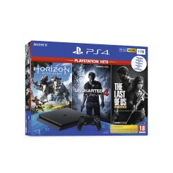 Sony Playstation 4 1 TB + Uncharted 4 + The Last Of Us + Horizon Zero Dawn